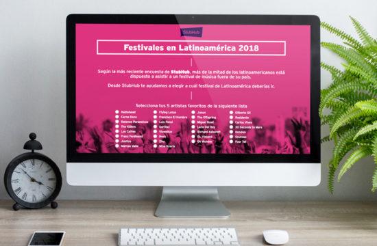 WEBAPP – Festivales Latinoamérica 2018 Stubhub